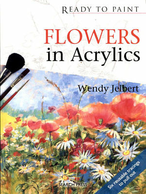 Book -  Ready To Paint Flowers In Acrylics