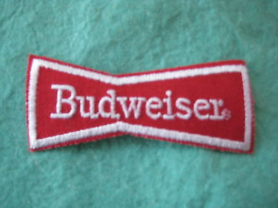 """Vintage Budweiser Company Beer Uniform  Patch Iron On 3 7/8"""" X 1 5/8"""""""
