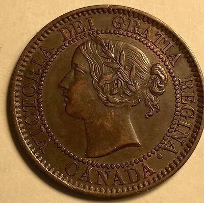 Canada - Queen Victoria - Large Cent - 1859 - Narrow 9 - About Uncirculated