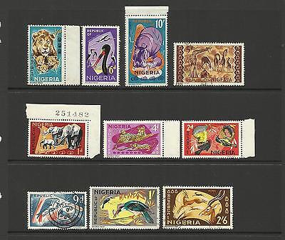 Nigeria ~ 1965 Definitives Part Set (Wild Life)
