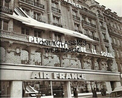Air France Concorde Building Headquarters Advertising Photo Supersonic Airplane