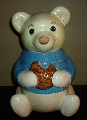 Metlox Poppytrail TEDDY BEAR with Blue Sweater Cookie Jar