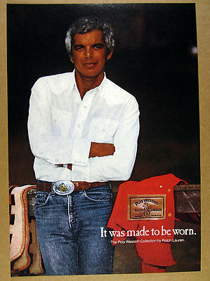 1979 ralph lauren photo Polo Western Collection jeans clothing vintage print Ad