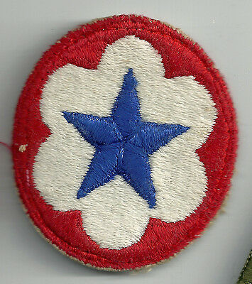 Wwii U.s. Army Service Forces Cut Edge Snow Back Ssi Insignia Patch Ww2