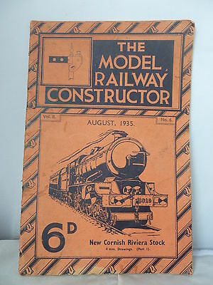 The Model Railway Constructor Magazine No. 6 - August 1935 Illustrated
