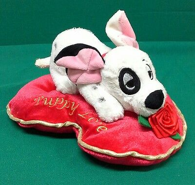 DISNEY 101 Dalmations Puppy Love Cushion Plush Toy 9""