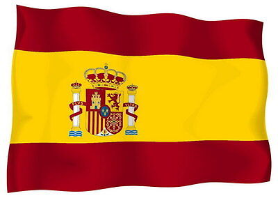Sticker decal vinyl decals national flag car ensign bumper spain spanish