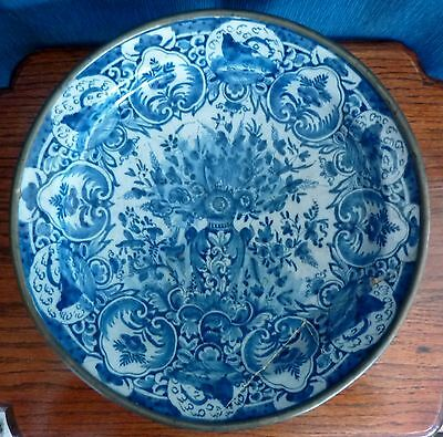 Large Ormolu Mounted 17th C. Delft Charger (Restoration Project)