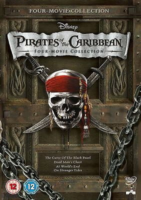 Pirates of the Caribbean: 1 2 3 4 Movie Film Collection Box Set | New | DVD