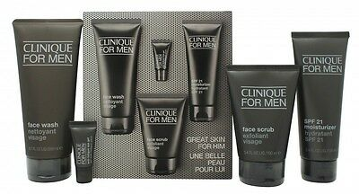 Clinique For Men Gift Set 200Ml Face Wash + 100Ml Face Scrub + 100Ml Moisturiser