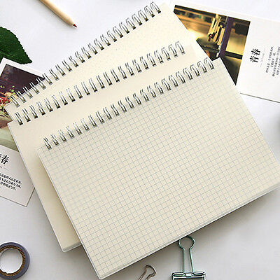 Simple A5 Spiral Coil Note Book Paper Journal Diary Memo Blank Page Stationery
