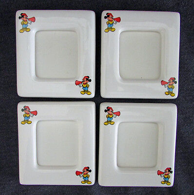 Vintage Disney Mickey Mouse Picture Frames Refrigerator Magnets, Set of 4