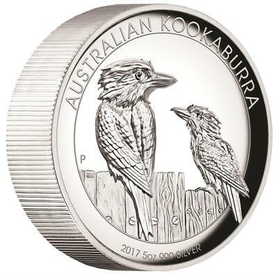 Australien - 8 Dollar 2017 - Kookaburra - 5 Oz. Silber - High Relief - in PP