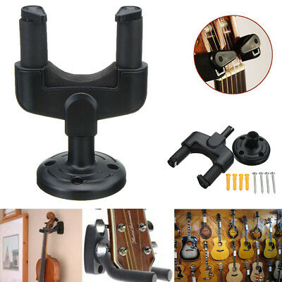 Electric Guitar Stand Acoustic Bass Wall Hanger Holder Rack Hook  Mount + Screws