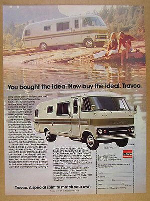 1975 Travco 270 Motorhome RV color photo vintage print Ad