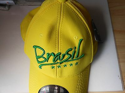 BASE BALL style cap BRASIL yellow with green letters