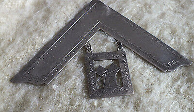 masonic    Hallmarked Silver Past Masters Collar Jewel not engraved