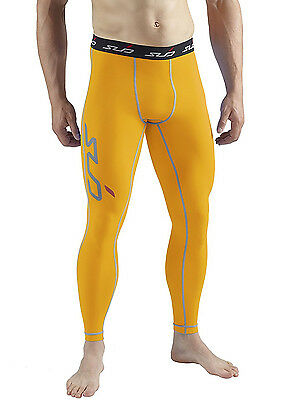 Sub Sports Dual Compression Baselayer Mens Tights - Yellow