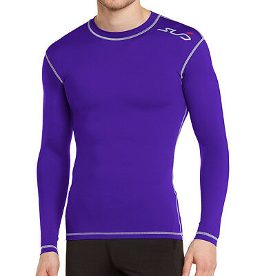 Sub Sports Dual Compression Baselayer Mens Long Sleeve Top - Purple