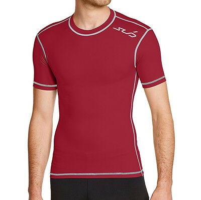 Sub Sports Dual Compression Baselayer Mens Short-Sleeved Top - Red