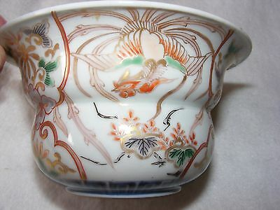 Antique Chinese Porcelain China Bowl Dish Rice Bowl Heavy Decoration A/f