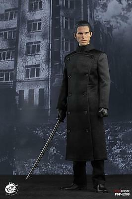 POPTOYS End Missionary Equilibrium Long Black Jacket Coat loose 1//6th scale