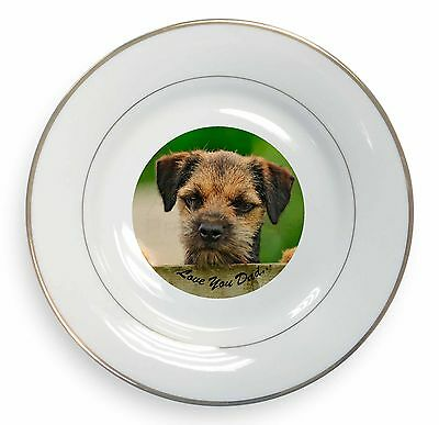Border Terrier Glass Paperweight in Gift Box Christmas Present AD-BT2PW