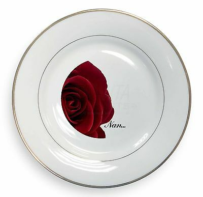 GRA-R6PW Red Rose /'Nan Love Sentiment/' Glass Paperweight in Gift Box Christmas