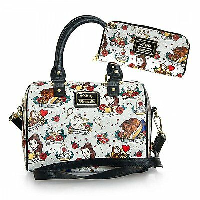 Disney Beauty and the Beast Belle Tattoo Tote Bag & Wallet Set