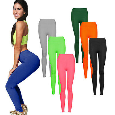 Women Workout Leggings Gym Sports Pants High Waist Fitness Stretch Trousers CA