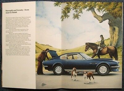 ASTON MARTIN V8 & VANTAGE Car Sales Brochure c1978 Artwork R Winder
