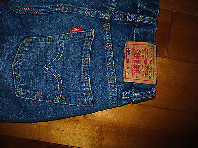 LEVI'S 549 Boys Size 8  Blue JEANS 24 X 22 RELAXED STRAIGHT Adjustable Waistband