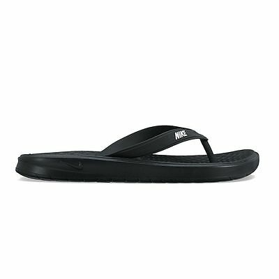 New Nike Solay Men's Sandals Thong size 7 8 9 10 11 12 Black