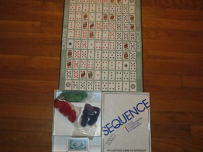 1995 Jax Sequence Card Board Game Complete In Box In Excellent Condition