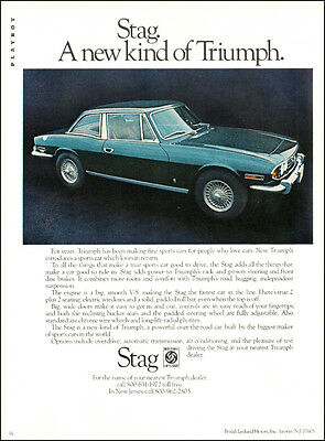 1968 Classic British Sports Car AD, a new kind of TRIUMPH the STAG V-8  062714