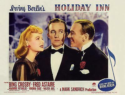 HOLIDAY INN * BING CROSBY & FRED ASTAIRE * 11x14 LC print 1942