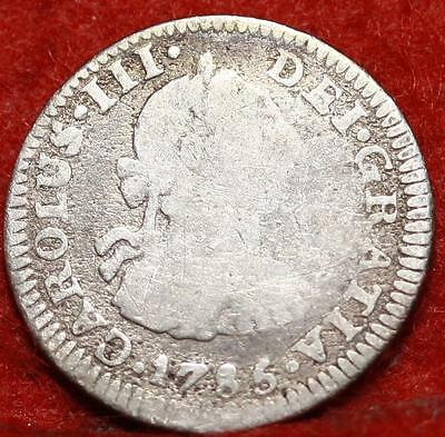 1785 Mexico 1/2 Real Silver Foregin Coin Free S/H