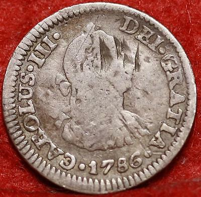 1786 Mexico 1 Real Silver Foregin Coin Free S/H