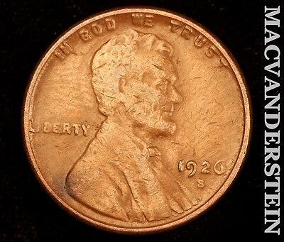 1926-S Lincoln Wheat Cent- Semi Key !! Better Date !! #r3779