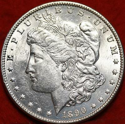 Uncirculated 1890 Philadelphia Mint Silver Morgan Dollar Free S/H