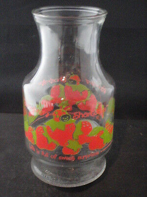 Vintage Strawberry Shortcake Glass Pitcher 1980 American Greetings Berry Nice