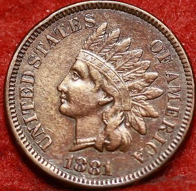 1881  Philadelphia Mint Copper Indian Head Cent Free Shipping
