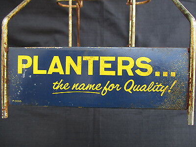 VINTAGE 1960s? PLANTERS PEANUTS & CANDY BAR STORE DISPLAY COUNTER TOP RACK STAND