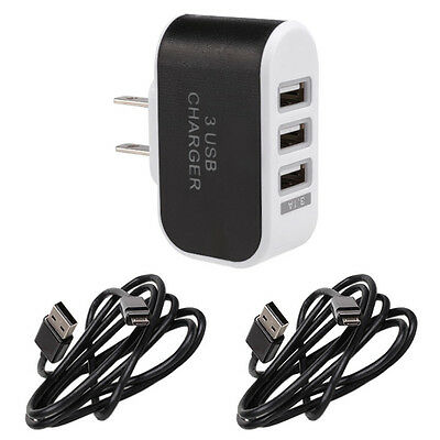 AC Wall Charger For Wireless Microsoft Xbox One Xbox 360 Controller 3 usb socket