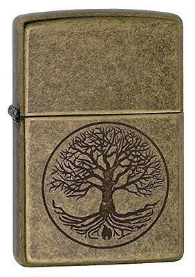 "Zippo ""Tree of Life"" Pocket Lighter Antique Brass Outdoor Recreation Feature"