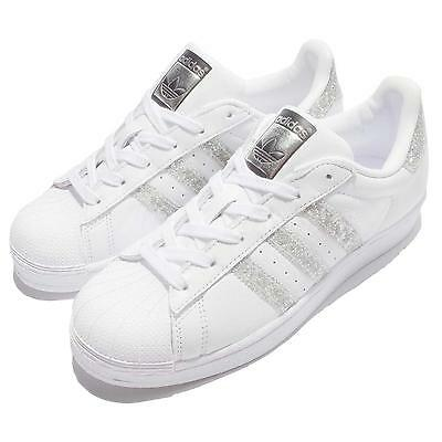 adidas Originals Superstar W Glitter Silver White Women Shoes Sneakers S76923