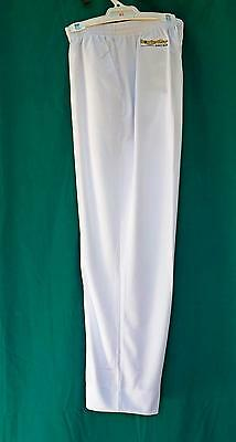 Lawn Bowls Clearance: NEW BOWLSWEAR MP01  Mens XL White Long Pants FREE SHIPPING