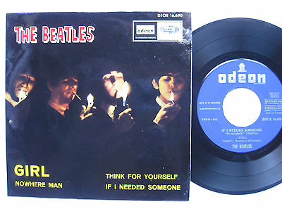 THE BEATLES * EP Spain PS * EX * SMOKING COVER * Chica * 1966