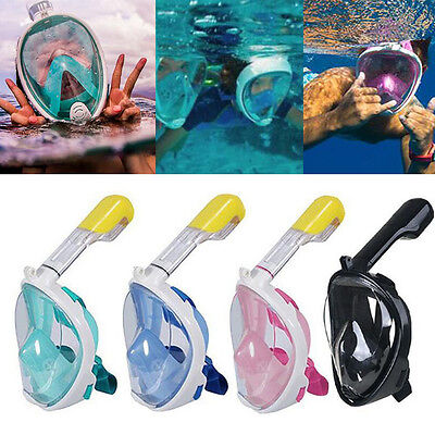 180° View Swimming Diving Snorkeling Full Face Snorkel Scuba Mask For GoPro DH