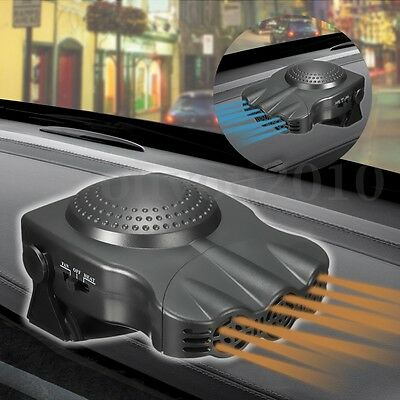 12V 150W 2 In 1 Portable Car Heater Hot Cool Fan Windscreen Demister Defroster